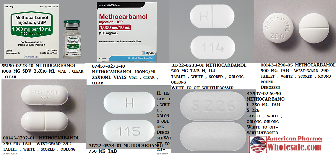 RX ITEM-Methocarbamol 100Mg/Ml Vial 25X10Ml By Mylan Institutional