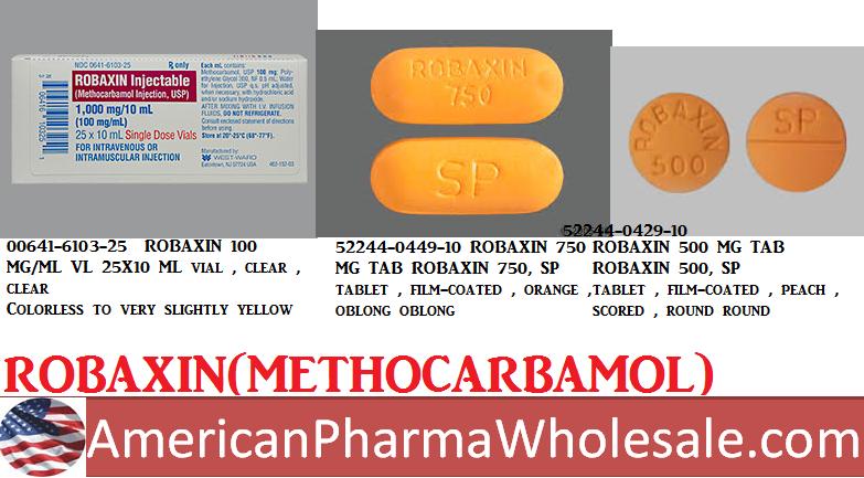 RX ITEM-Robaxin 100Mg/Ml Vial 25X10Ml By Westward Pharma