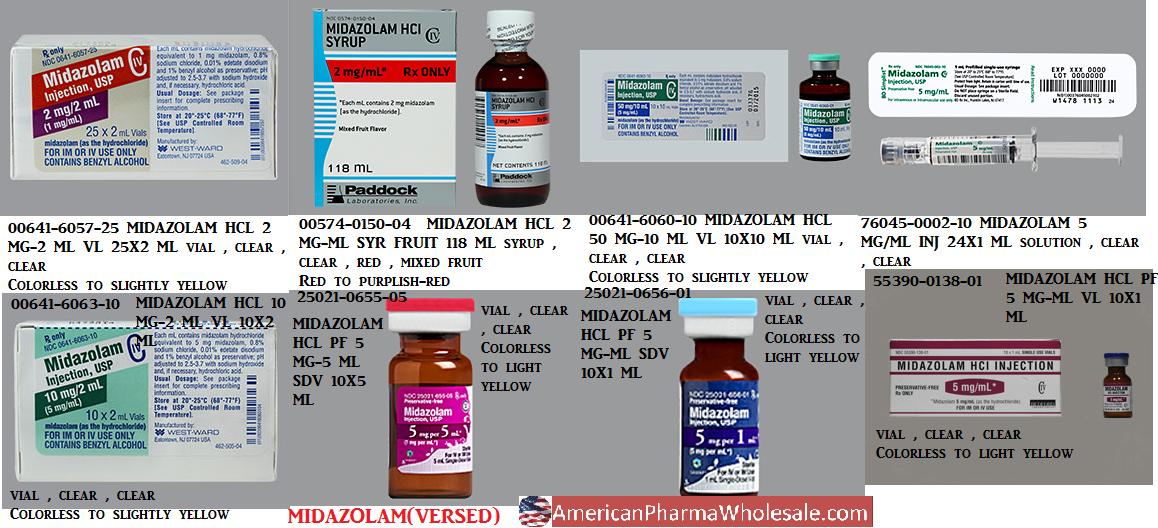 RX ITEM-Midazolam 100% Powder 5Gm By Medisca