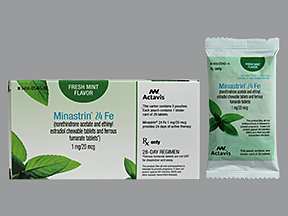 RX ITEM-Minastrin 24 Fe 1Mg/20Mcg Chewable  5X28 By Actavis Pharma
