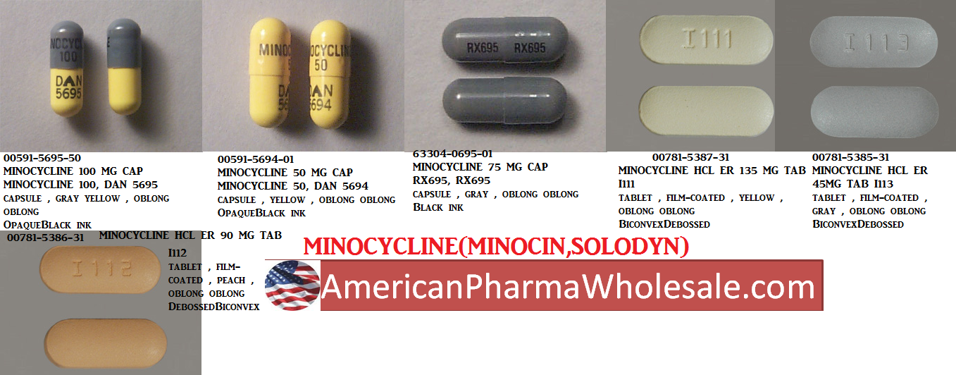 '.Minocin 100Mg Cap 60 By Valeant Pharma.'