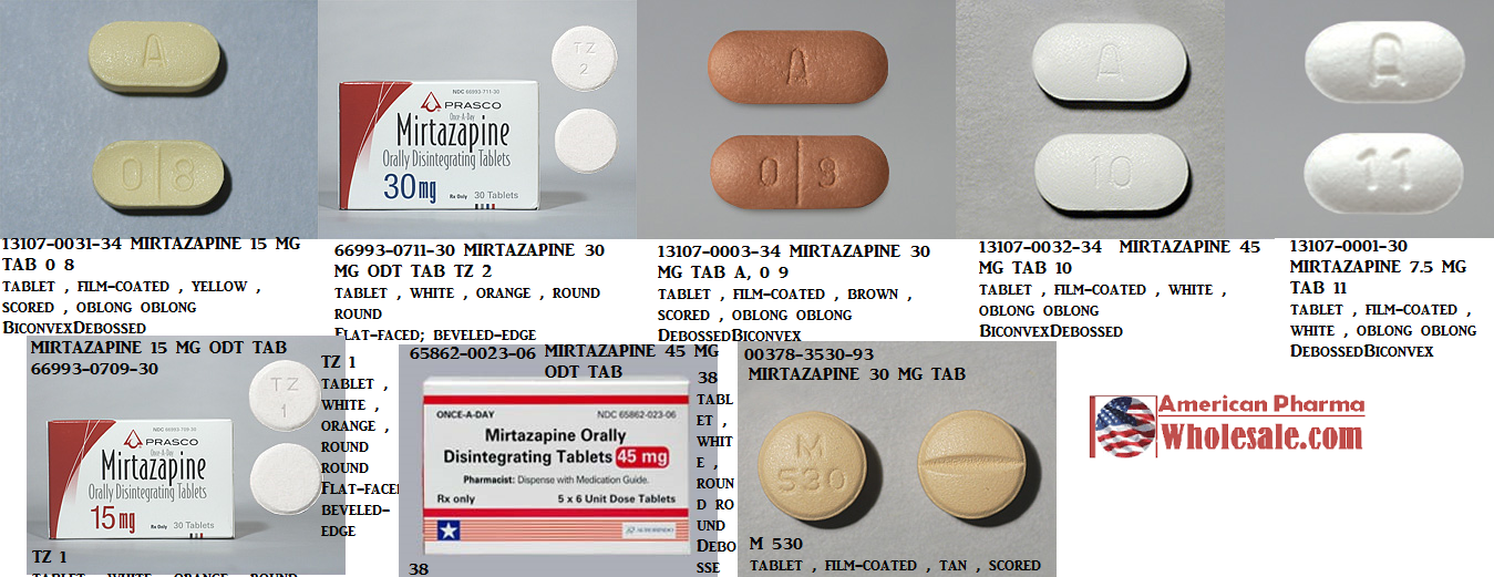 RX ITEM-Mirtazapine 15Mg Tab 100 By Mylan Institutional