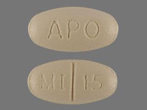 RX ITEM-Mirtazapine 15Mg Tab 30 By Apotex Corp