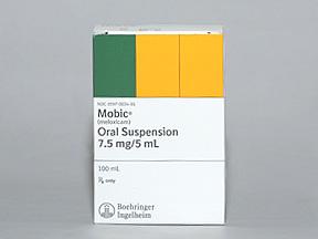 RX ITEM-Mobic Oral 7.5Mg/5Ml Suspension 100Ml By Boehringer Ingelheim