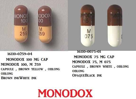 RX ITEM-Monodox 100Mg Cap 50 By Aqua Pharma