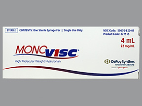 RX ITEM-Monovisc 88Mg 4 Ml Syringe 1X4Ml By J O M Pharma