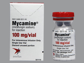 RX ITEM-Mycamine 100Mg Vial 10Ml By Astellas Pharma