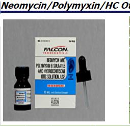 RX ITEM-Neo/Poly B-HC Otic Soln 10Ml Sandoz Falcon Pharma