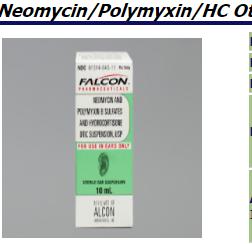 RX ITEM-Neomycin/Poly/HC 10Ml Otic Suspension [Sandoz] Cortisporin Falcon Pharma