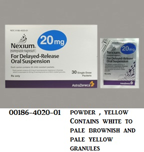 RX ITEM-Nexium 20Mg Suspension 30 By Astra Zeneca Pharma