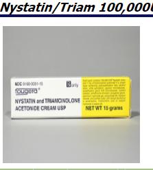 RX ITEM-Nystatin-Triamcinolone Acetonide 100000U/ 0.1 Cream 60Gm By Fougera Exp