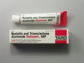 RX ITEM-Nystatin-Triamcinolone Acetonide 100000U/ 0.1 Ont 15Gm By Taro Pharma