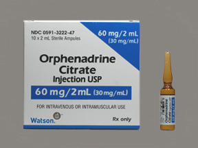 Rx Item-Orphenadrine Citrate 30Mg/ml Amp 10X2ml By Actavis Pharma(Teva)
