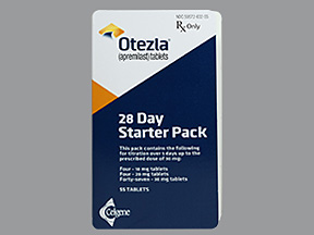 Rx Item-Otezla 30mg Dose Pack 55 By Celgene 28 Day Titration Pack