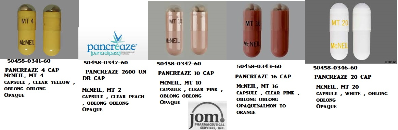 RX ITEM-Pancreaze 10.5K 25K Cap 100 By J O M Pharma