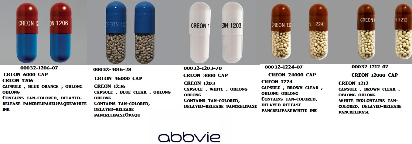 Creon 12000 12K/38K/ 60 Cap 100 by Abbvie Pharma