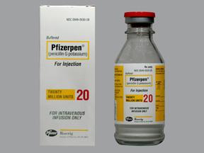 RX ITEM-Pfizerpen 20Mm Unit Vial By Pfizer Pharma Inj