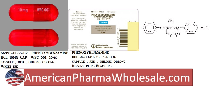 Rx Item-Phenoxybenzamine 10mg Cap 100 By Prasco Pharma