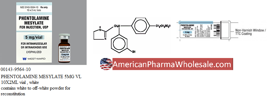 Rx Item-Phentolamine Mesylate 5mg Vial 10X2ml By Westward Pharma