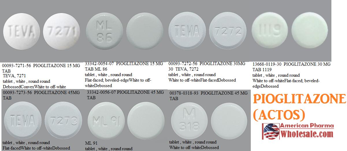 RX ITEM-Pioglitazone 15Mg Tab 100 By American Health Packaging