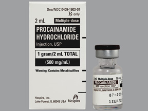 Rx Item-Procainamide 500Mg/ml Vial 25X2ml By Hospira Worldwide