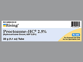 HYDROCORTISONE 2.5% CRM Gen Proctozone-Hc 2.5%  30gm by Leading Pharma