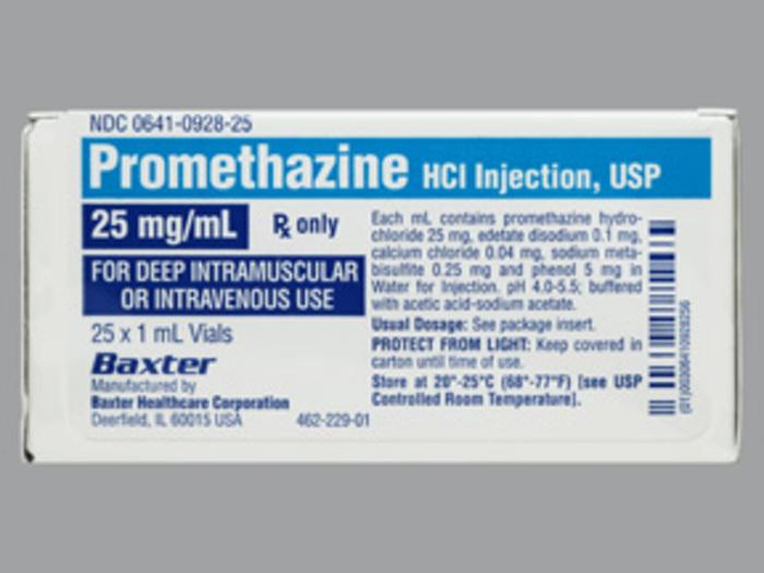 RX ITEM-Promethazine 25Mg/Ml Vial 25X1Ml By Westward Pharma
