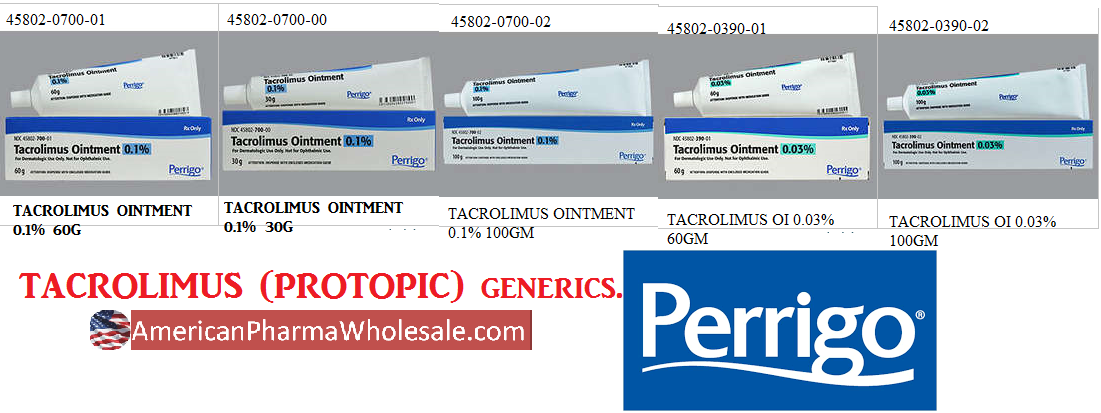 Rx Item-Tacrolimus 0.03% Ointment 100gm By Fougera Pharma