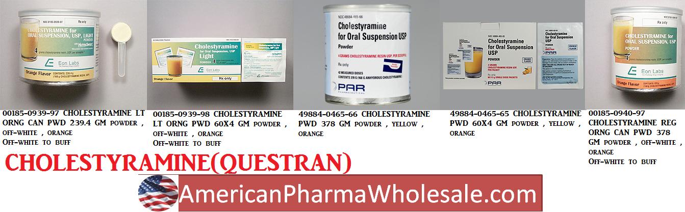 Rx Item-Cholestyramine 4 G Packet 60X4gm By Par Pharma
