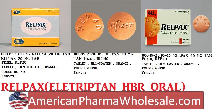 Rx Item-Eletriptan Generic Relpax 40mg Tab 6 By Zydus Pharma