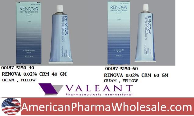 RX ITEM-Renova 0.02% Cream 40Gm By Valeant Pharma