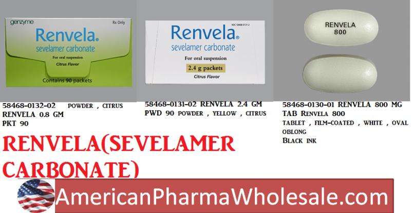 RX ITEM-Renvela 2400Mg Powder 90 By Aventis Pharm Genzyme