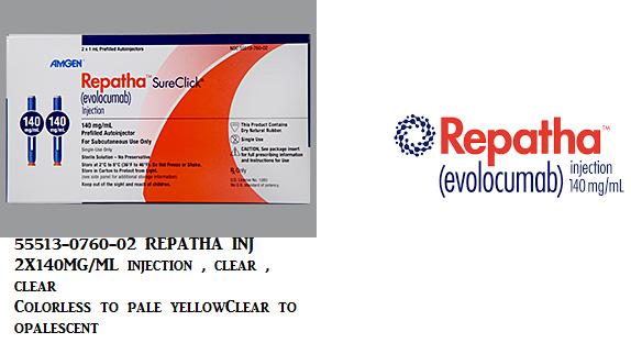 RX ITEM-Repatha evolocumab SUBCUT SYRINGE 140Mg/Ml Syringe By Amgen