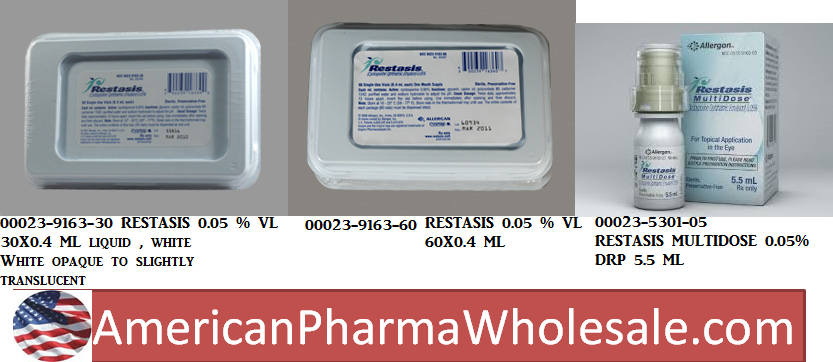 RX ITEM-Restasis 0.05% Drops 30X0.4Ml By Allergan Pharma