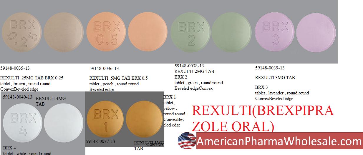 RX ITEM-Rexulti brexpiprazole 0.25Mg Tab 30 By Otsuka America