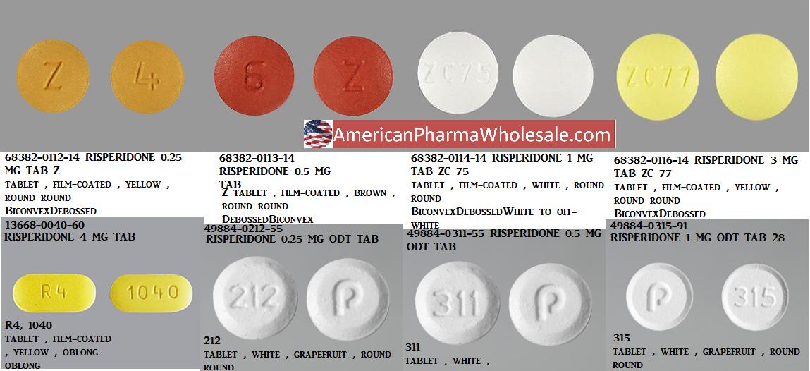 Risperidone 0.25mg Tab 60 by Mylan Pharma