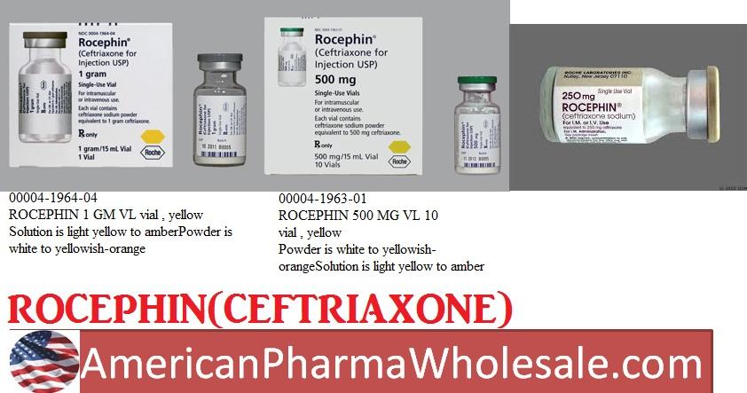 RX ITEM-Rocephin 1 Gm Vial 10 By Genentech