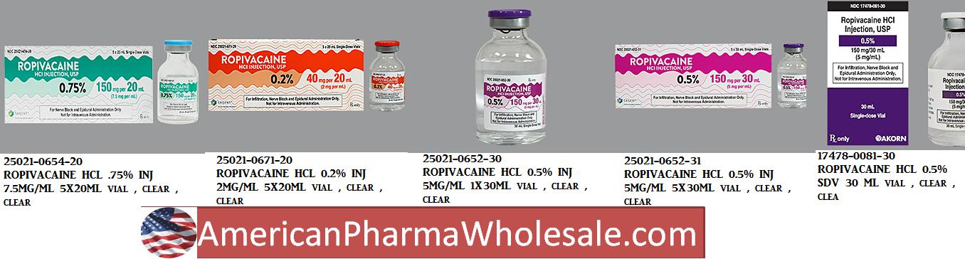 RX ITEM-Ropivacaine 10Mg/Ml Vial 10X10Ml By Hospira Worldwide