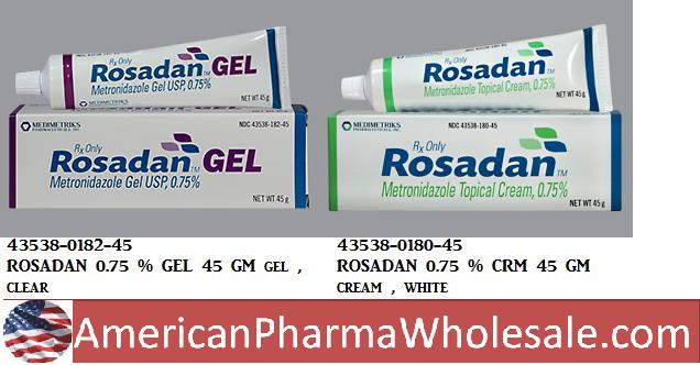 RX ITEM-Rosadan 0.75% Cream 45Gm By Medimetriks Pharma