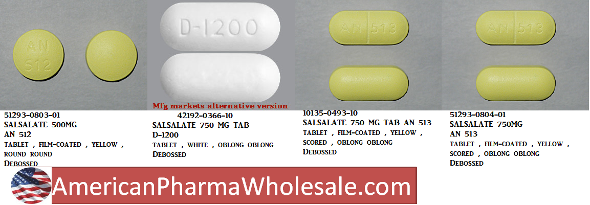 RX ITEM-Salsalate 500Mg Tab 100 By Acella Pharma