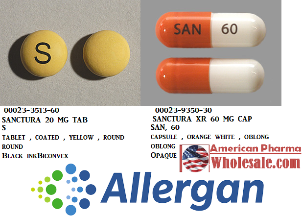 RX ITEM-Sanctura 20Mg Tab 60 By Allergan Pharma