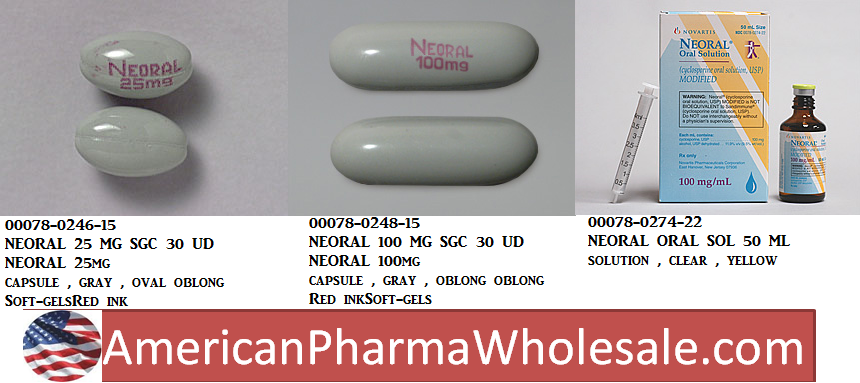 RX ITEM-Neoral 100Mg/Ml Solution 50Ml By Novartis