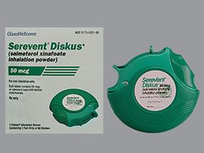 RX ITEM-Serevent Disk 50Mcg Inhaler 60 By Glaxosmithkline Rx