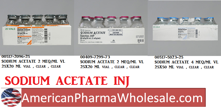 RX ITEM-Sodium Acetate 2 Meq/Ml (40Meq/20Ml)Vial 25X20Ml By Hospira Worldwide
