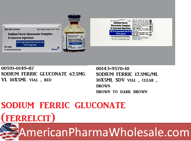 Rx Item-Sodium Ferric Gluconate 62.5Mg/5ml Vial 10X5ml By Actavis Pharma