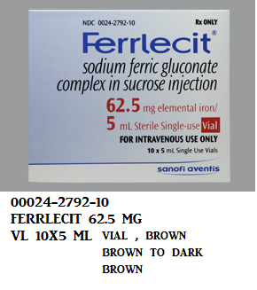 '.Sodium Ferric Gluconate 62.5Mg/5Ml Vial .'