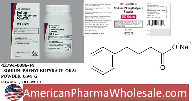 Rx Item-Sodium Phenylbutyrate 0.94 G G Powder 250gm By Sigmapharm Lab