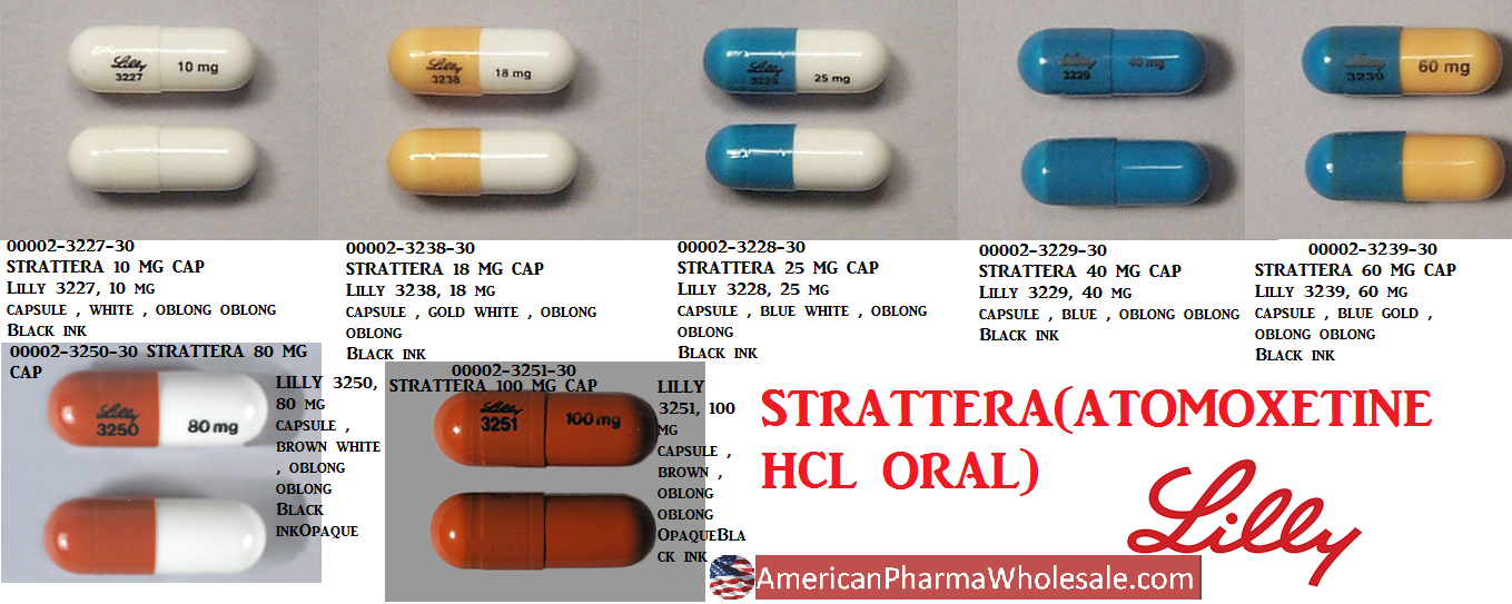 RX ITEM-Strattera 100Mg Cap 30 By Lilly Eli & Co
