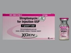 RX ITEM-Streptomycin 1 Gm Vial 10X1Gm By X Gen Pharma