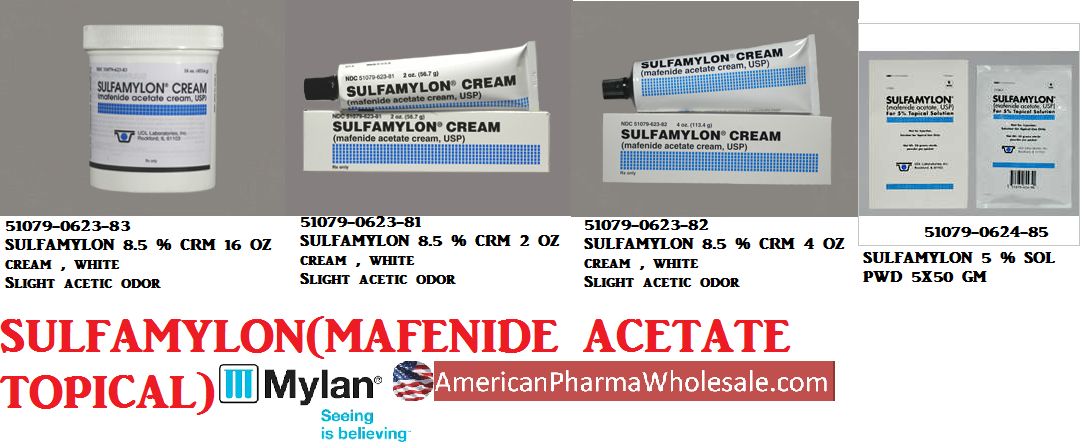 RX ITEM-Sulfamylon 50 G Packet 5X50Gm By Mylan Institutional